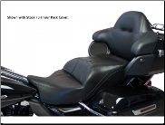 ULTRA CLASSIC ELECTRA GLIDE®/ELECTRA GLIDE® ULTRA LIMITED/ELECTRA GLIDE® ULTRA CLASSIC LOW/ROAD GLIDE® ULTRA /TRI GLIDE®/FLH® 2009-2013 - Ultimate MIDRIDER Harley-Davidson® FLH® Touring - ONE PIECE Motorcycle Seats - 12370